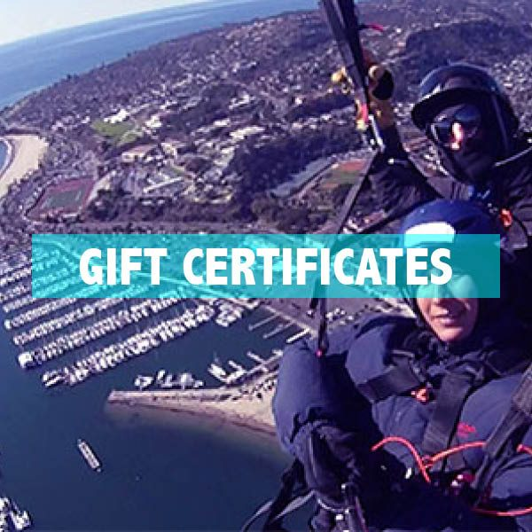 Paragliding Gift Certificates